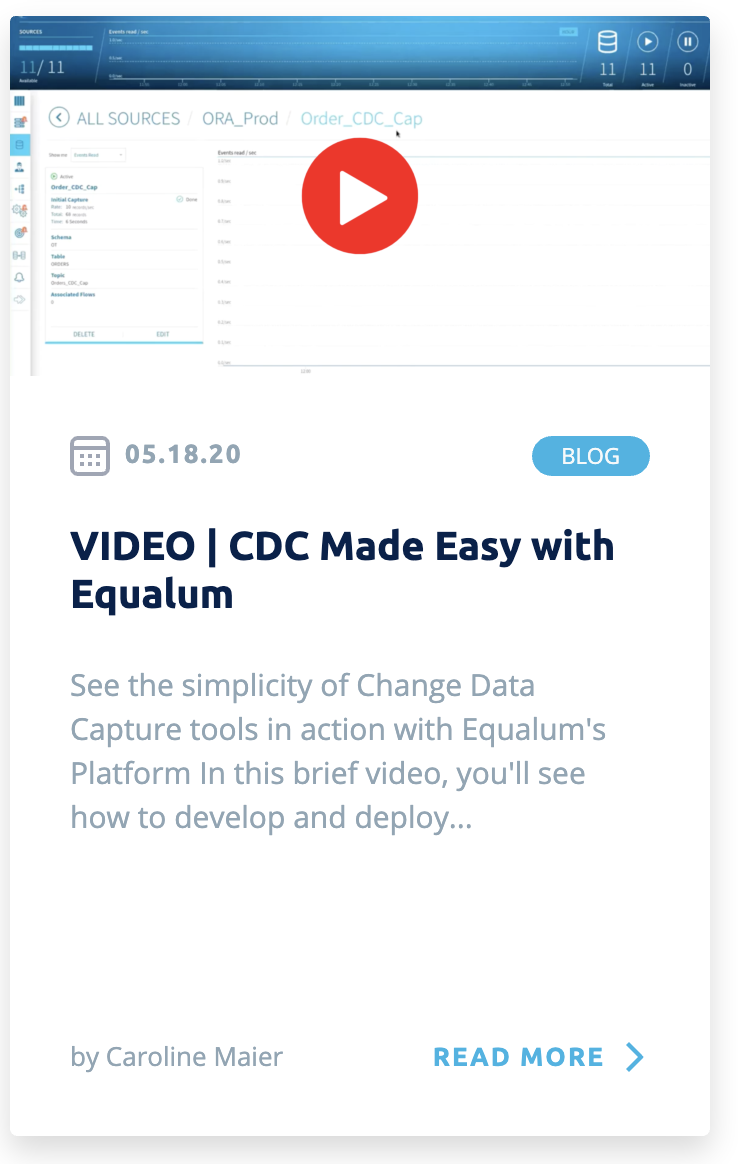 CDC Made Easy with Equalum - Mini Platform Demo Video
