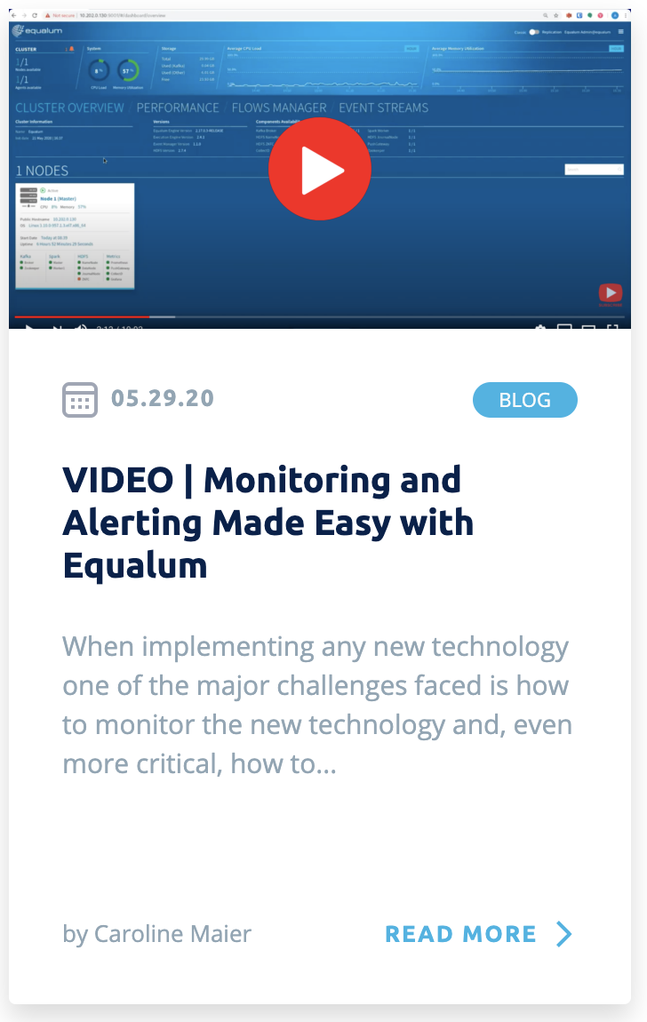 VIDEO - Monitoring and Alerting Made Easy with Equalum